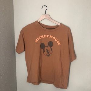 AE Mickey Mouse Brown Shirt